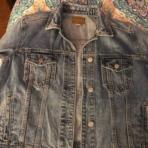 Jean jacket and dress together